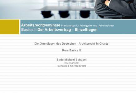 Basics II – Einzelheiten Arbeitsvertrag
