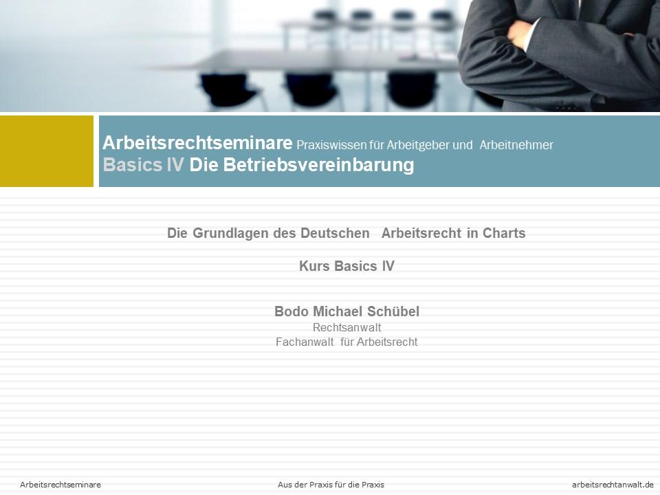 Basics IV – Die Betriebsvereinbarung
